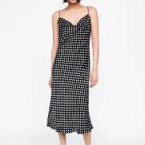 Zara Black and White Polka Dot Slip Dress Size XS